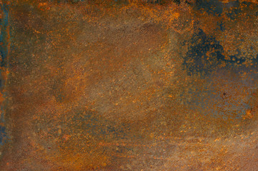 old rusty iron background. Corrosion of metal