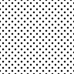Seamless Black and White Polka Dot Background