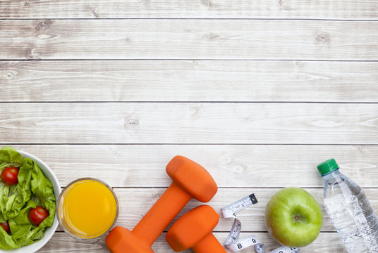 Healthy Diet Fitness Background