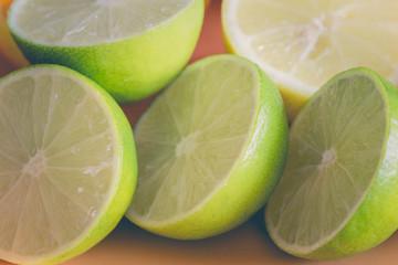 Chopped fruit lime.