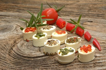 Feta cheese appetizer with spices