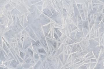 Pattern of frozen water