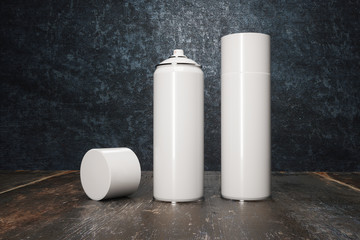 two white spray paint