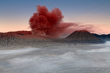Mount Bromo in India at sunrise.