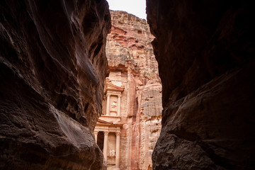 Part of Treasury temple, Petra, Ma an Governorate, Jordan