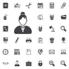 Businesswoman avatar icon
