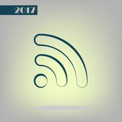 Wi-Fi symbol icon. Vector illustration