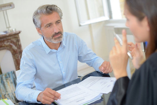 a meeting with an attorney