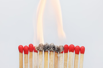 Matches ignition closeup