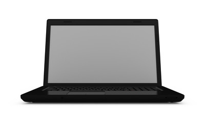 Notebook computer isolated . 3D rendering.