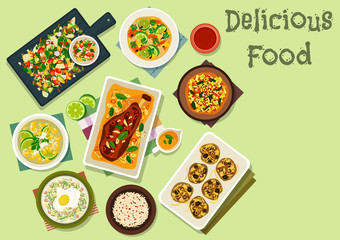 Indian cuisine spicy dishes for lunch icon