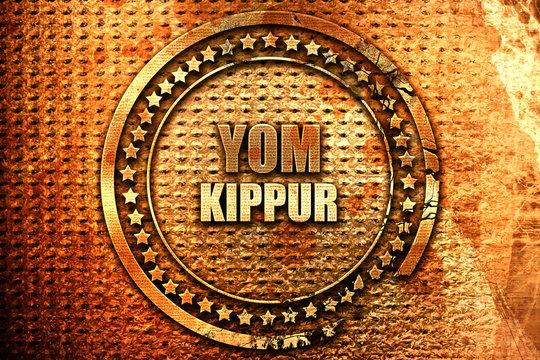 yom kippur, 3D rendering, grunge metal stamp