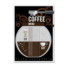 coffee menu graphic  design template