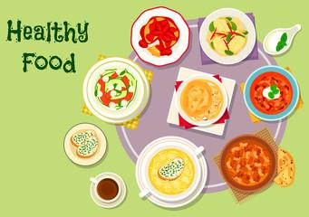 Hearty food icon for menu or recipe design