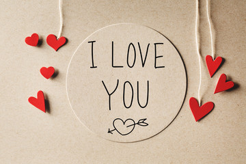 I Love You message with small hearts