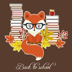 Vector back to school illustration. Eps 10