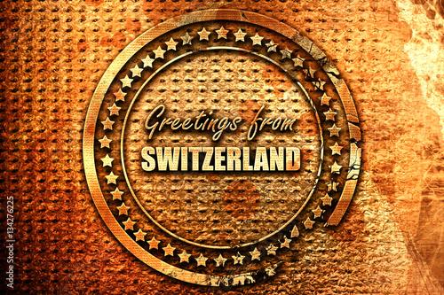 Greetings from switzerland 3d rendering grunge metal stamp stock greetings from switzerland 3d rendering grunge metal stamp m4hsunfo