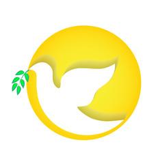 Dove peace vector icon. Holy spirit concept
