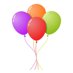 Colorful Set of Balloons
