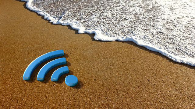 Concept for a Wireless Internet Sign on the Beach