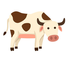 illustration of isolated cow on white background