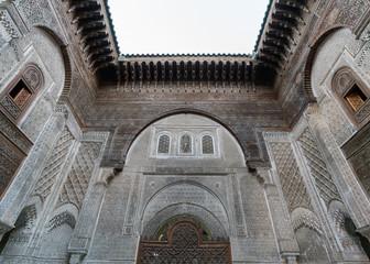 Moroccan ancient islamic school - madrasa in Fez, Morocco, Africa