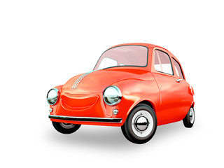 cartoon car 3D rendering