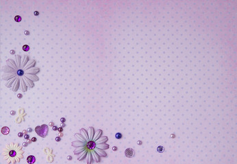 background with lilac rhinestones