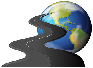 Road to the planet earth