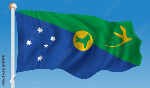 Christmas Island Flag.Flag Of Christmas Island Stock Image And Royalty Free