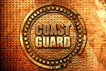 coast guard, 3D rendering, grunge metal stamp