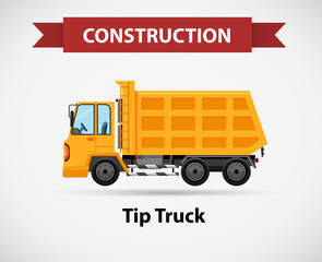 Construction icon for tip truck
