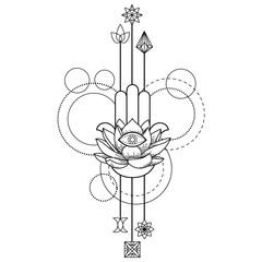 Hamsa Hand of Fatima Amulet tattoo