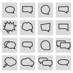 Vector line speech bubbles icons set