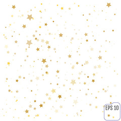 Vector gold confetti background for luxury greeting rich card. G