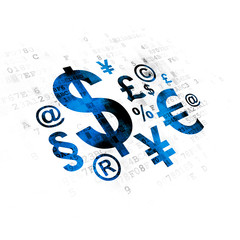 Business concept: Finance Symbol on Digital background