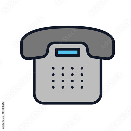 Office Phone Icon Illustration Isolated Vector Sign Symbol