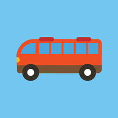 Bus Isolated  Vector Illustration