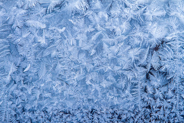 Winter patterns on glass