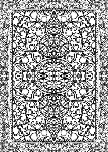 Book Cover Black And White Design : Quot vintage gothic pattern with floral elements black and