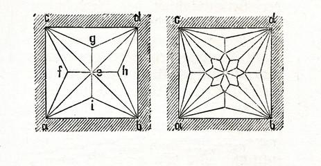 Stellar vault or lierne (from Meyers Lexikon, 1895, 7/541)