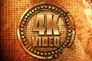 4k video, 3D rendering, grunge metal stamp