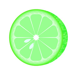 round cut fresh lime slice sour