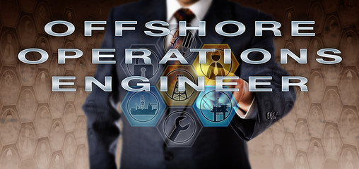 Businessman Pressing OFFSHORE OPERATIONS ENGINEER