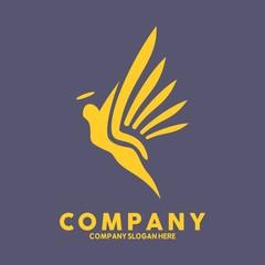 Angel logo vector icon Template