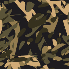 Camouflage seamless pattern.Military