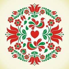 Hungarian folk vector motif