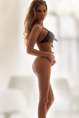 Sexy women in black lingerie