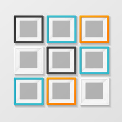 Blank Color Picture or Foto Frame for Interior. Vector