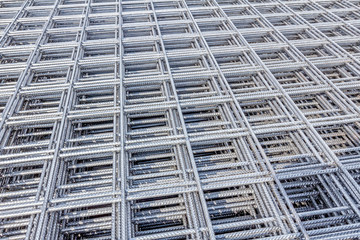 Pile of reinforcing mesh, armature, background, pattern